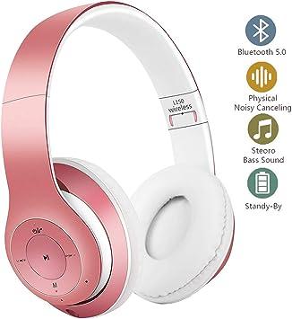 YiYunTE - Auriculares inalámbricos con Bluetooth y micrófono ...