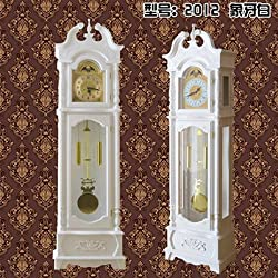 Y-Hui Mechanical Large Clock The Clock Tower Clocks Floor Clock Solid Wood Living Room Atmosphere Classic A Clock, 14 Inch,2012 Ivory