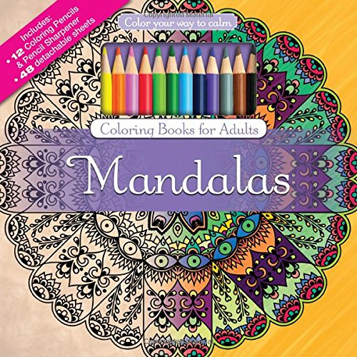 Mandalas Adult Coloring Book Set With Colored Pencils