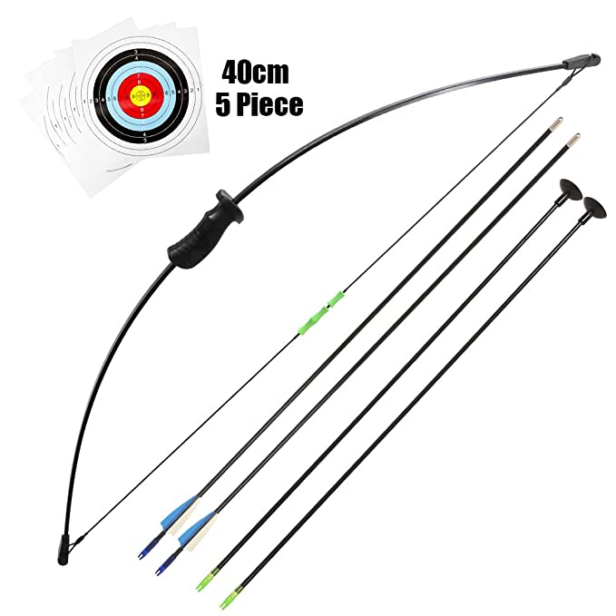 e79555cd740 Junxing Recurve Bow 20lb Longbow Toy Bow and Arrow Youth Archery Set and  Arrows kids Bow  Amazon.co.uk  Sports   Outdoors