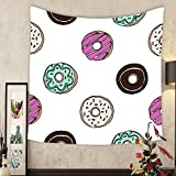 Keshia Dwete Custom tapestry donuts pattern seamless background
