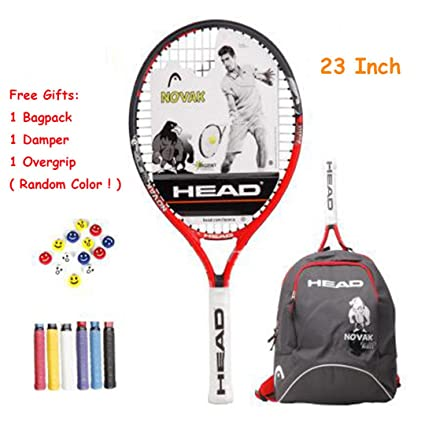 Children Tennis Racket Paddle with Bagpack Tenis Raquete Sports Training Overgrip Damper String Boy Girl Kids