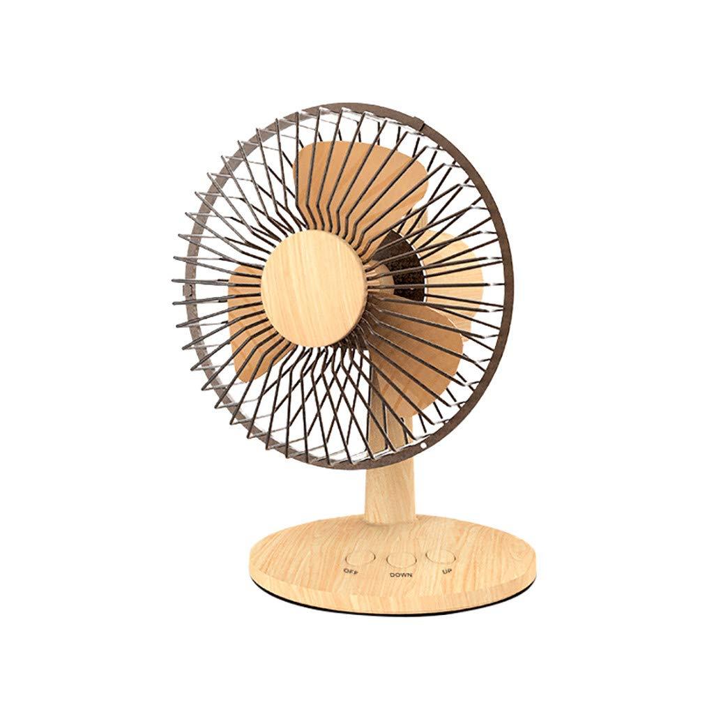 Juesi Mini Portable Fan, USB Charging F27 Wood-Grain Fan Retro Desktop Shaking Head Fan Mini-Fan Portable Desk Fan (Wood-Grain)