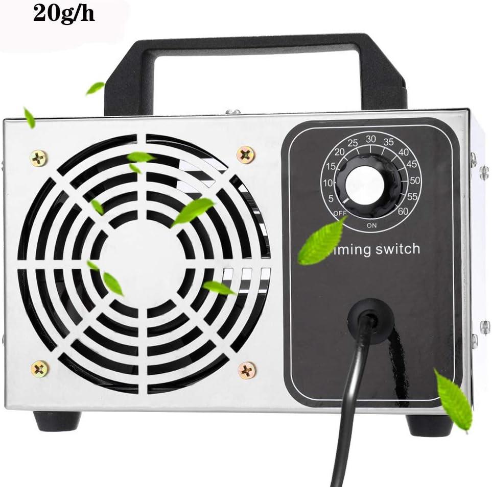 ZZQH Generador de Ozono Casero, Purificador de Aire Máquina de Ozono Móvil para Esterilizador de Aire Desinfectante ...