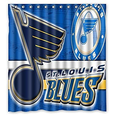 66 x72 inches st. louis blues Shower Curtain for Bathroom