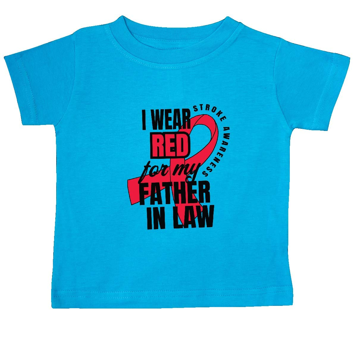 inktastic I Wear Red for My Father in Law Stroke Awareness Baby T-Shirt