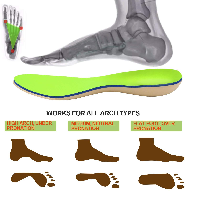 Everhealth Semelles orthop/édiques et diab/étiques Semelle Chaussures Confort avec Technologie Anti-bact/éries Support de la Vo/ûte Plantaire et Talonnette PORON pour Amortisseur