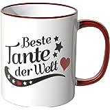 Wandkings® Tasse, Spruch: Beste Tante der Welt - ROT