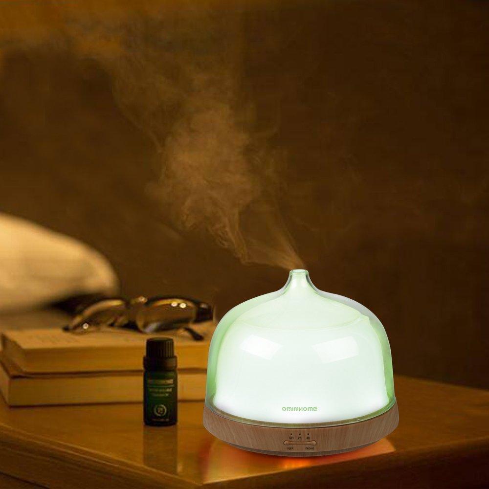 Ominihome Ultrasonic Aromatherapy Essential Oil Diffuser - 200ml - Wood Grain Humidifier