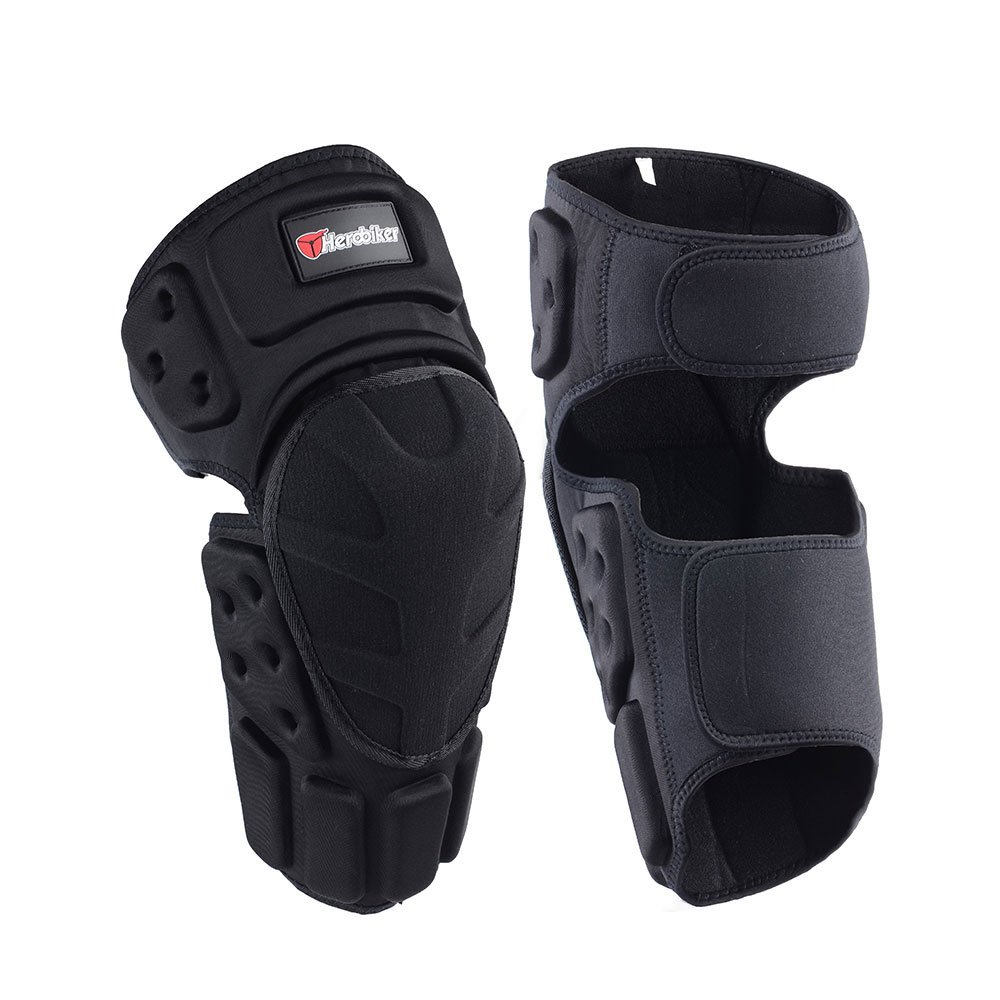 HEROBIKER Moto Knee Pads Black Protective Motorcycle Kneepad Motorcycle Motocross Bike Bicycle Pads Knee Pads Protective Guards