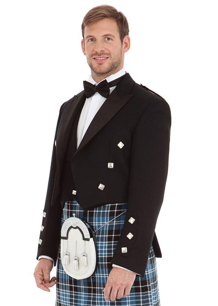 Kilt Society Mens Scottish Black Prince Charlie Kilt Jacket & Vest 52 Regular by Kilt Society (Image #9)