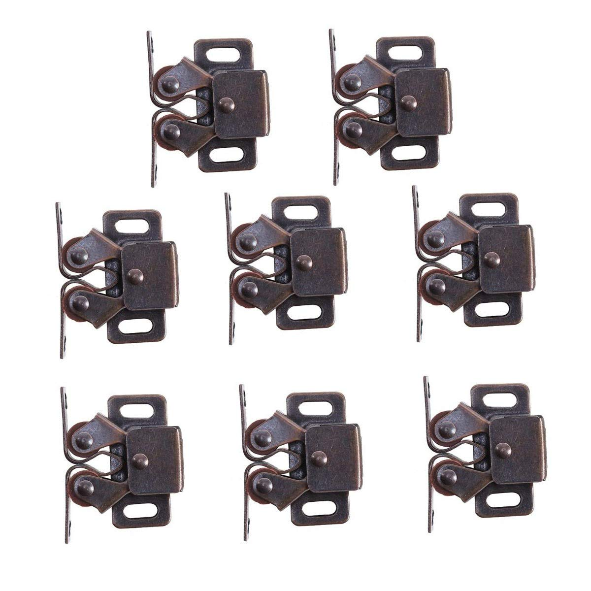 Door Catches, CCUCKY Pack Of 8 Pieces Double Roller Strong Hold Cuboard Cabinet Door Catches-Zinc Alloy HUIYUE