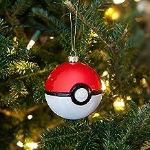 Pokemon Poke Ball Glass 4 Ornament Set!