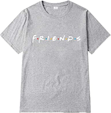 Friends TV Show T Shirts Women Funny Crewneck Tunic Top Short Sleeve Hoodie Girls Plus Size Summer Blouses Boyfriend Style Graphic Tees for Teens Casual Loose Basic Jersey T-Shirt Hip Hop Streetwear