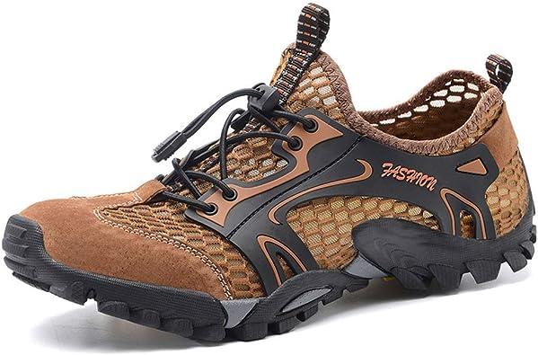 Guoda Zapatos de Senderismo - Zapatillas de Trail Runnin Zapatos De Vadeo | Antideslizante | Resistente Al Desgaste | Malla Transpirable | Primavera Y Verano | Zapatos De Pareja | Marrón: Amazon.es: Zapatos y complementos