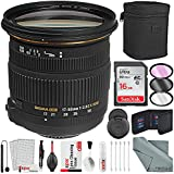 Sigma 17-50mm f/2.8 EX DC OS HSM Zoom Lens for Nikon DSLRs with APS-C Sensors and Deluxe Accessory Bundle with Xpix Cleaning Kit