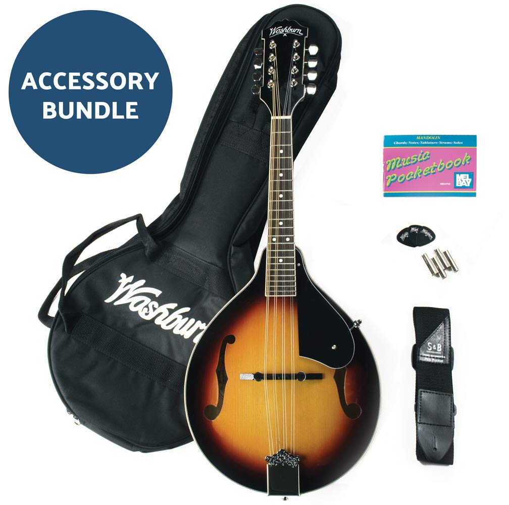Washburn, 8-String Mandolin, Tobacco Sunburst (M1K-A)