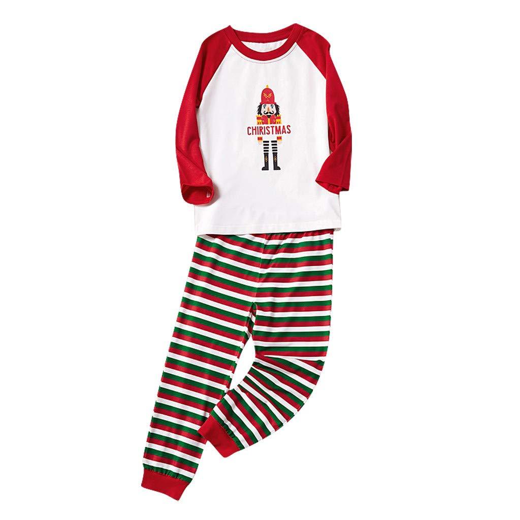 Voberry Christmas Pajamas for Family, Christmas Family Matching Pajama Set Xmas Pyjamas Sleepwear Holiday Pjs by Voberry@123