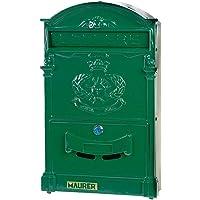 MAURER 3080605 Buzón Jardín Aluminio Fundido Verde 41