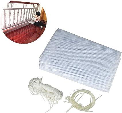Filet de protection pour enfants et animaux domestiques Blanc 200 x 74 cm 200x74cm
