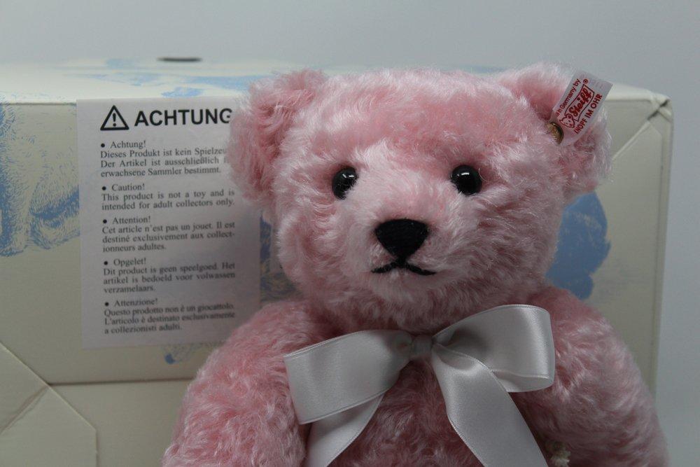Teddy 35 cm Moh Rosa Euro Asia incl. Zertifikat: Amazon.de: Spielzeug
