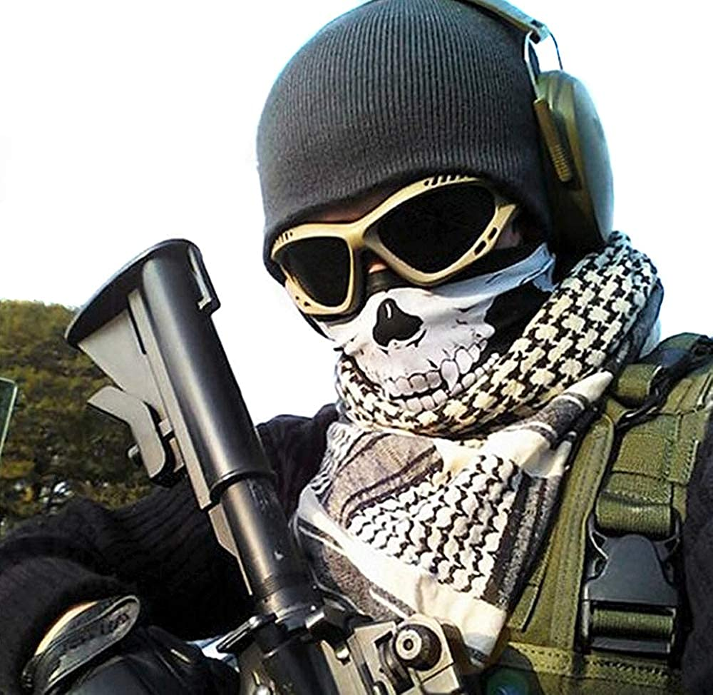 Cagoule bandana Tour De Cou Tube Cache Nez foulard protege cou zombie tete de mort pirate