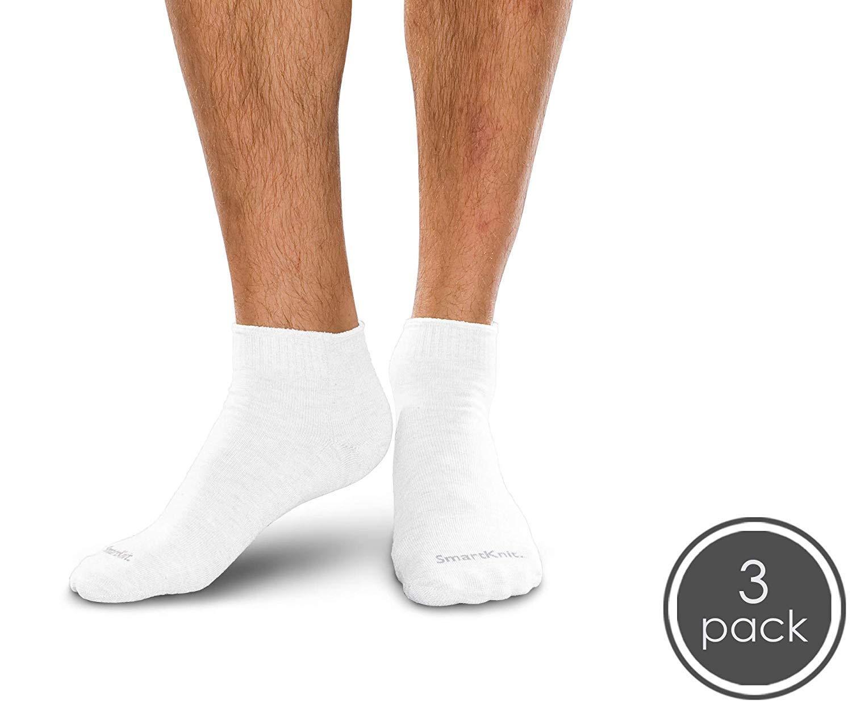 SmartKnit Seamless Diabetic Mini Crew Socks 3 Pack - Small - White by SmartKnit