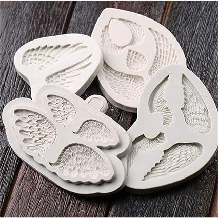 Angel Wings Fondant Mould Sugarcraft Cake Baking Decor Tool Silicone Mold XDUK
