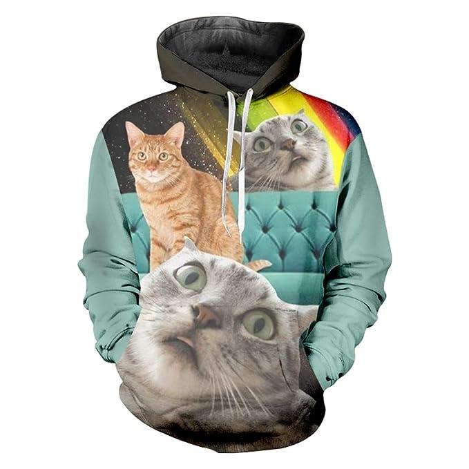 Sudaderas Capucha Sudaderas Hombre FáBrica Animal Suelto Sudaderas Capucha 3D Impreso Rainbow Cat Hiphop Gran TamañO Atuendo Hombres OtoñO Hoody: Amazon.es: ...