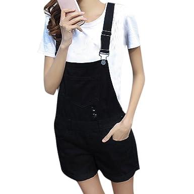 2c4fcea165d2 semen Ladies Denim Dungarees Playsuit Jumpsuit Mini Dress Pinafore Short  Jeans  Amazon.co.uk  Clothing