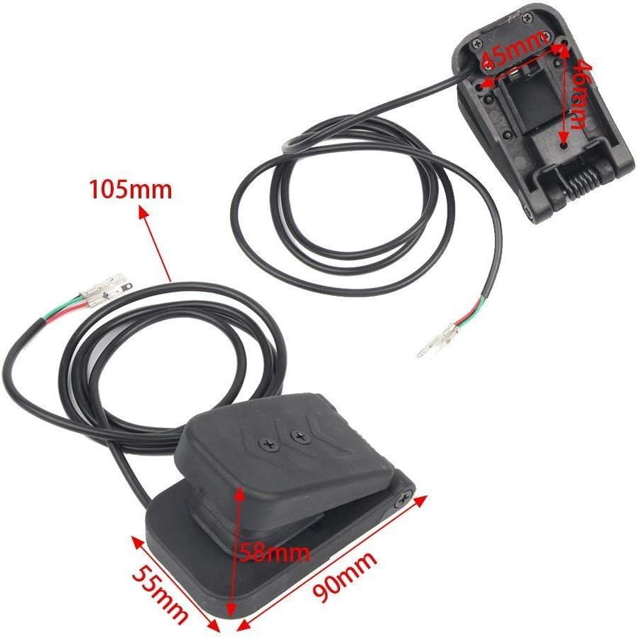 Redcolourful Fu/ßsteuerpedal-elektrischer Auto-Gaspedal-Beschleuniger-E-Fahrrad//Boot//Roller//Fahrrad des Fu/ß-5V