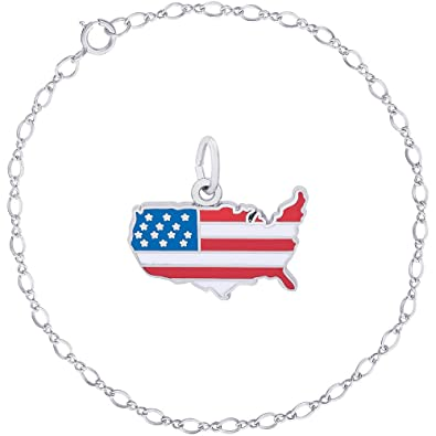 4e0a3b08fedee Amazon.com: Rembrandt Charms Sterling Silver Enameled United States ...