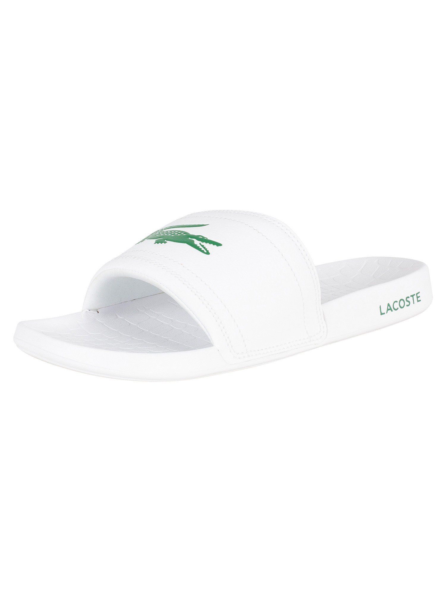 Lacoste Men's Fraisier Crocodile Detail Flip-Flops UK 9 White