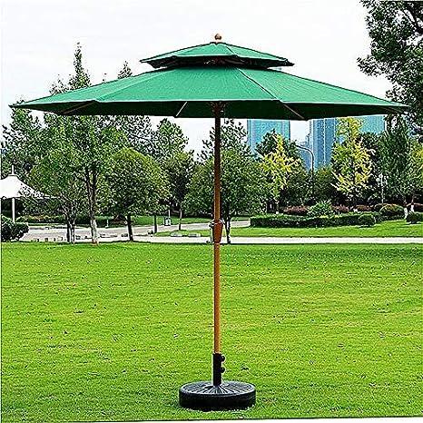 ZDW Paraguas elegante del toldo del patio del jardín de madera de ...