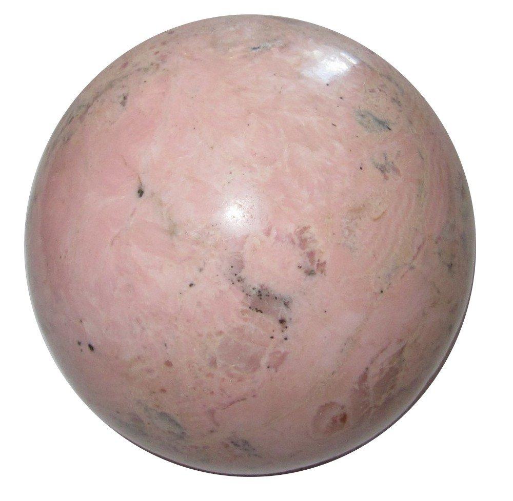 Rhodochrosite Ball 23 Light Pink Crystal Healing Stone Love Meditation Enlightenment Stone 2.2''