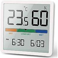 NOKLEAD Termómetro interior del higrómetro, termómetro digital de escritorio con monitor de temperatura y humedad…