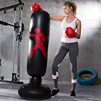 LONEEDY Gonflable autoportant Punching-Ball, Sac Lourd de Formation, Adultes Adolescents Fitness Sport Stress Relief Boxe Cible