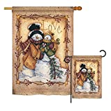 Ornament Collection S191002-P3 Christmas Love Snowman Winter Christmas Impressions Decorative Vertical House 28″ X 40″ Garden 13″ X 18.5″ Flags Set Printed in USA Multi-Color