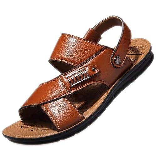 Sandalias de Piel para Hombre, Estilo Informal, para Verano