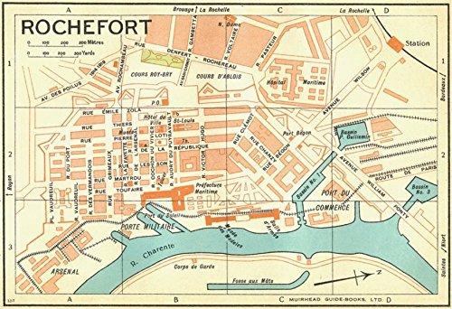 france-rochefort-1932-vintage-map