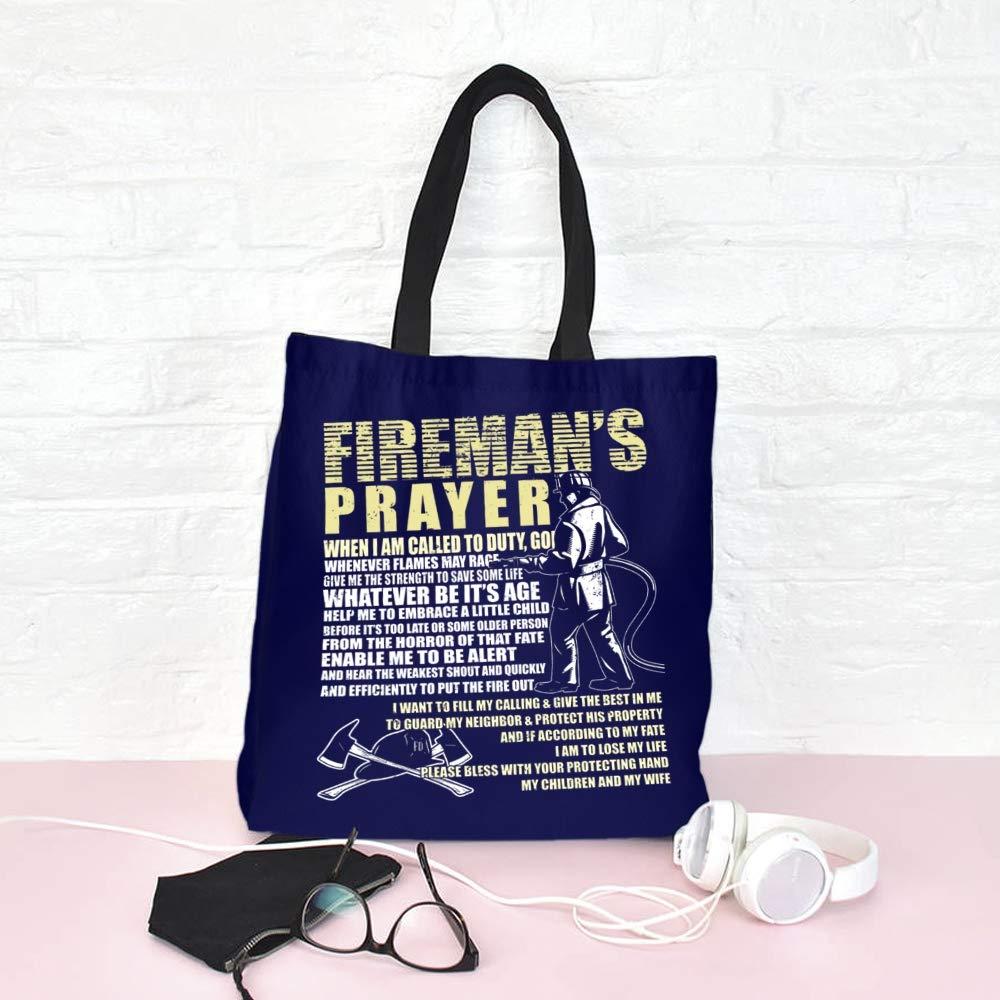 Amazon.com: Bolsa de lona de regalo para bomberos, bolsa de ...
