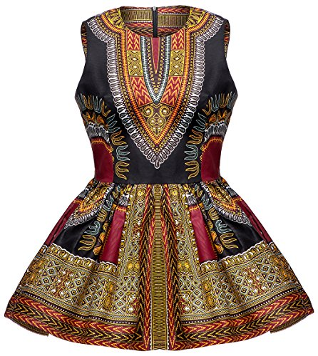 Shenbolen Women African Print Shirt Dashiki Traditional Top(C,X-Large) ()