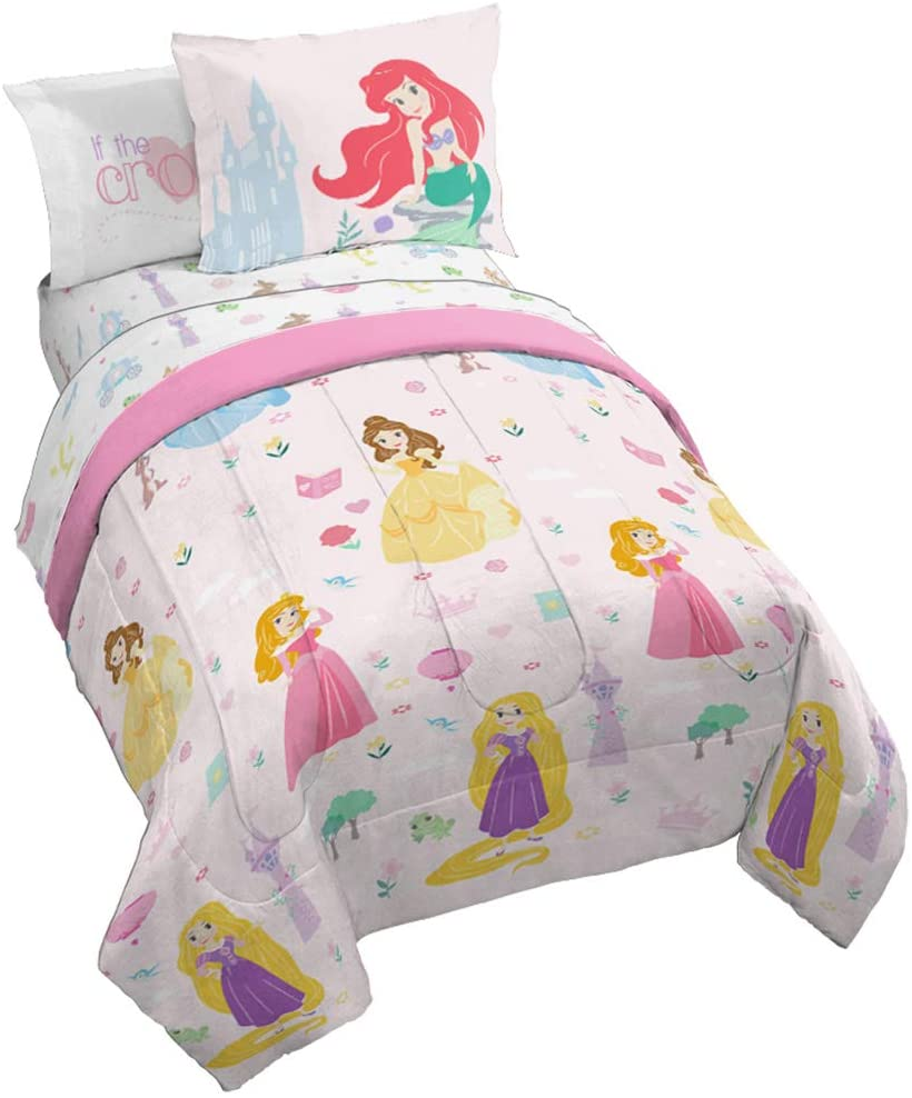 Jay Franco Disney Princess Paper Cut Bed Set, Full