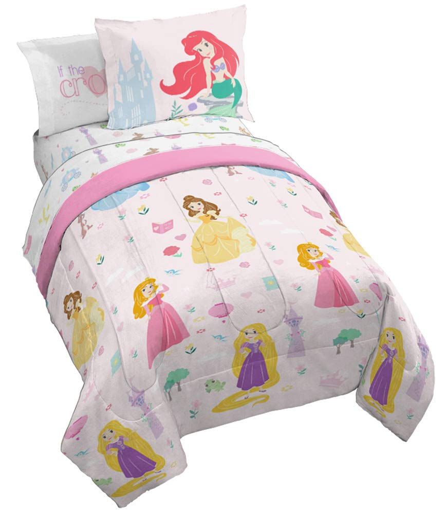 Jay Franco Disney Princess Paper Cut Full Bed Set, Pink