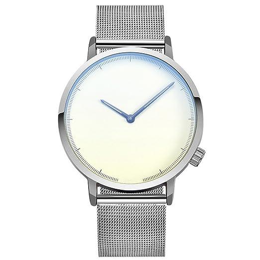 Gusspower Reloj de Moda para Hombre, Popular Militar de Cuarzo Deportivo Reloj de dial de Pulsera Correa de Acero Inoxidable (B): Amazon.es: Relojes