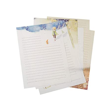Lvcky 40Pcs Fairy Tale Stationery Writing Paper Prince Letter Papers Pad Gift Set for Blessing Greeting Card( )