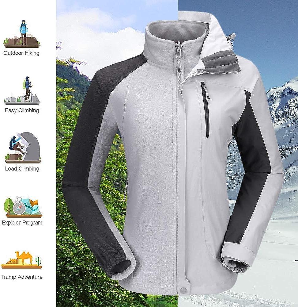 CAMEL CROWN Womens Ski Jacket Winter Jacket Waterproof 3 in 1 Mountain Coat Windproof Hooded with Inner Warm Fleece Coat