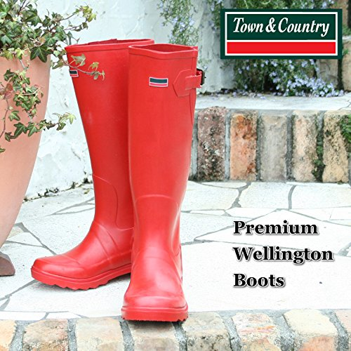 Town & Country Premium Wellington - Botas, talla 37, color frambuesa