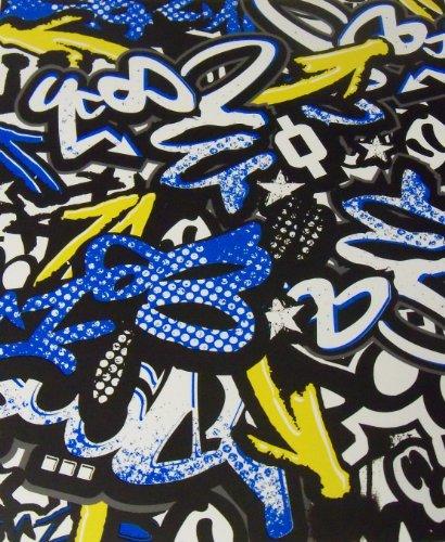 (Staples Two Pocket Paper Folder ~ Urban Spirit Folder (Grafiti Speaks with Sheen Aspects))