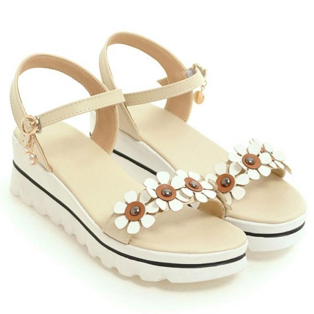 RAZAMAZA Women Ankle Strap Sandals Flatform